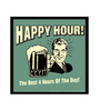 bCreative Paper & Fibre 13 x 1 x 13 Inch Happy Hour! The Best 4 Hours Of The Day! Officially Licensed Framed Poster