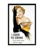 bCreative Paper & Fibre 13 x 1 x 16 Inch I Used To Drink But That Was Hours Ago Officially Licensed Framed Poster