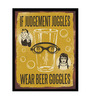 bCreative Paper & Fibre 13 x 1 x 19 Inch Wear Beer Goggles Officially Licensed Framed Poster