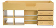 Etsuko Single Bed with Storage in Beech Finish by Mintwud