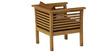 Belmond Teak Wood Sofa Set (3+1+1) in Natural Teak Finish by CasaTeak