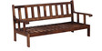 Corvallis Three Seater Sofa in Provincial Teak Finish by Woodsworth