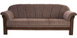 Benzer Three Seater Sofa in Light Brown Colour by Maruti Furniture