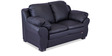 Berry Two Seater Sofa in Eerie Black Colour by Durian