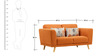 Beryl Fabric Two Seater Sofa by Hometown