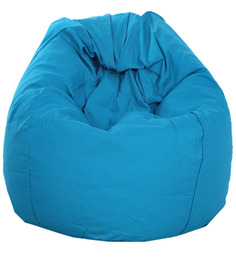 ORGANIC COTTON Bean Bag Cover in Blue Colour by Reme