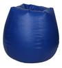 Bean Bag with Beans in Blue Leatherette by TJAR