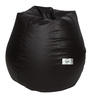 Bean Bag with Beans in Brown Leatherette by TJAR