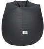 Bean Bag with Beans in Grey Leatherette by TJAR