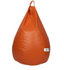 Bean Bag with Beans in Orange Leatherette by TJAR