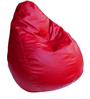 Bean Bag with Beans in Red Leatherette by TJAR