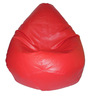 Bean Bag Without Beans in Red Leatherette by TJAR