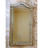Beaumont Decorative Mirror in Silver by Amberville