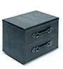 Genuine Leather - Bed Side Table - Black By Studio Ochre