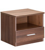 Bed Side Table in Acacia Dark Matt Finish by Debono