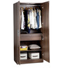 Belda Z Two Door Wardrobe in High Gloss Zebrano & Acacia Dark Matt Finish by Debono