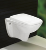 Bell White Ceramic Wall Mounted Water Closet (Model: 9005)