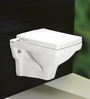 Bell White Ceramic Wall Mounted Water Closet (Model: 9010)