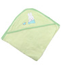 Belle Maison Green 100% Cotton Hooded Baby Bath Towel