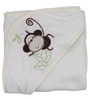 Belle Maison White 100% Cotton Hooded Baby Bath Towel