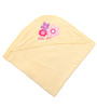 Belle Maison Yellow 100% Cotton Hooded Baby Bath Towel