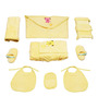 Belle Maison Yellow 9-piece Baby Bath Robe Set - Large