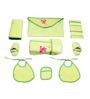 Belle Maison Green 9-piece Baby Bath Robe Set - Extra Large