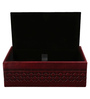 Belmun Smooth Dual Tone Cheques Embossed Rectangle Maroon Leatherette Tissue Box