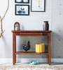 Tacoma Solid Wood Console Table in Honey Oak Finish by Woodsworth