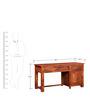 Edgewood Study & Laptop Table in Honey Oak Finish by Woodsworth