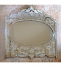Belper Decorative Mirror in Silver by Amberville