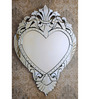 Benford Decorative Mirror in Silver by Amberville