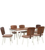 Benny Six Seater Dining Set in Brown Colour by @home