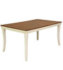Benny Six Seater Dining Table in White Colour by @home