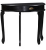 Mackin Console Table in Espresso Walnut Finish by Amberville