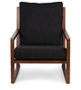 Benton Arm Chair in Charcoal Black Colour by HomeHQ