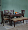 Bergamo Six Seater Dining Set in Honey Oak Finish by Amberville