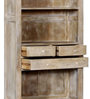 Marlesford Book Case in Lime Wash Finish by Amberville