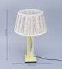 Beverly Studio Grey Poly Cotton Table Lamp