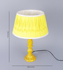 Brasenose Table Lamp in Yellow by Amberville