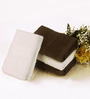 BIANCA Chocolate & White Cotton Hand Towel - Set of 4