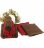 BIANCA Chocolate & Burgundy 100% Terry Cotton Face Towel - Set of 8