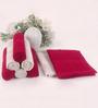 BIANCA Burgundy & Antique 100% Terry Cotton Face Towel - Set of 8