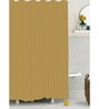 BIANCA Brown Polyester Shower Curtain
