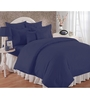 Bianca Blues Solids Cotton King Size Bed Sheets - Set of 3