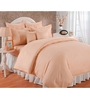 Bianca Peach Solids Cotton King Size Bed Sheets - Set of 3