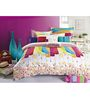 BIANCA Peek-A-Boo Desert Sand 2 Pc Cotton Single Bed Sheet Set - Set of 2