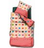 BIANCA Peek-A-Boo Salmon King-Size Cotton Bedsheet in Pink with Pillow Covers (Set of 3)
