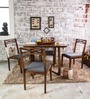 Binita Four Seater Dining Set in Provincial Teak Finish by Woodsworth