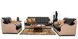 Blackberry Sofa Set (3+2+1) in Black & Coffee Color by Home City
